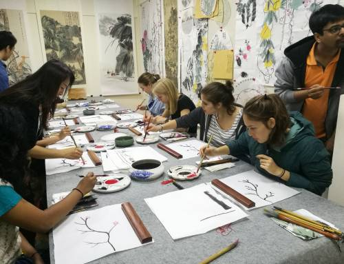 Au Pairs in Beijing had an Amazing Chinese Painting Experience!