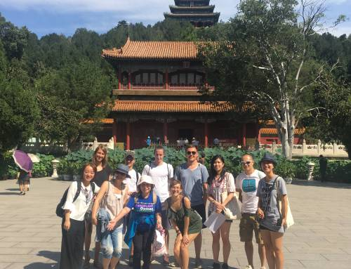 Outdoor Chinese Class at Jingshan Park for Edu Au Pairs in Beijing-Culture Activity