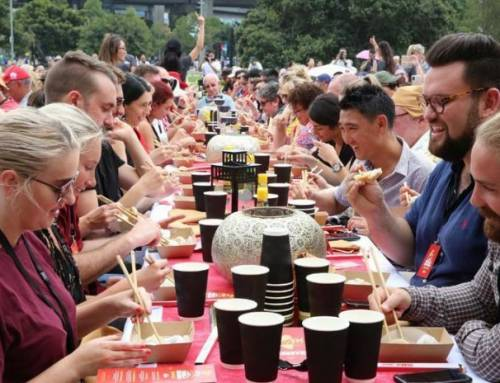 Learning Mandarin-764 People in Sydney Set World Record for Dumpling Eating to Celebrate Spring Festival(HSK2)